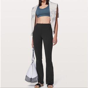Lululemon Groove pants pink and grey waist size 6